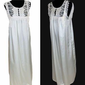 VTG Christian Dior Ivory Maxi Lingerie Gown Size M